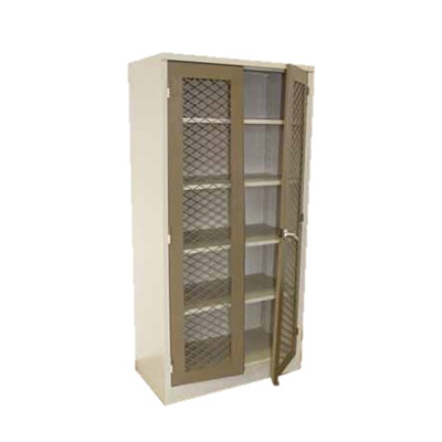 1800 Cupboard With Mesh Doors AT AN ANGLE