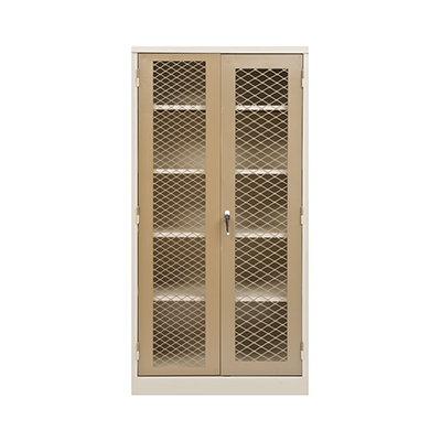 1800 Cupboard With Mesh Doors Closed