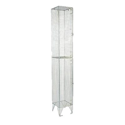 2 Compartment Wire Mesh Locker | LOC002M