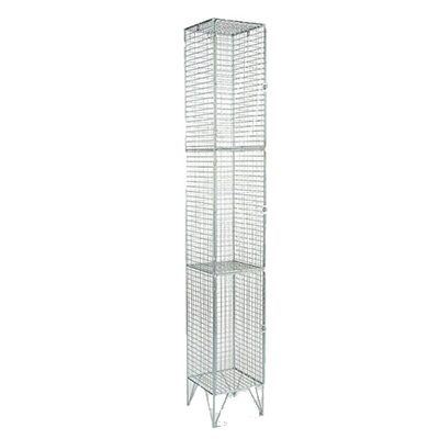 3 Compartment Wire Mesh Locker | LOC003M