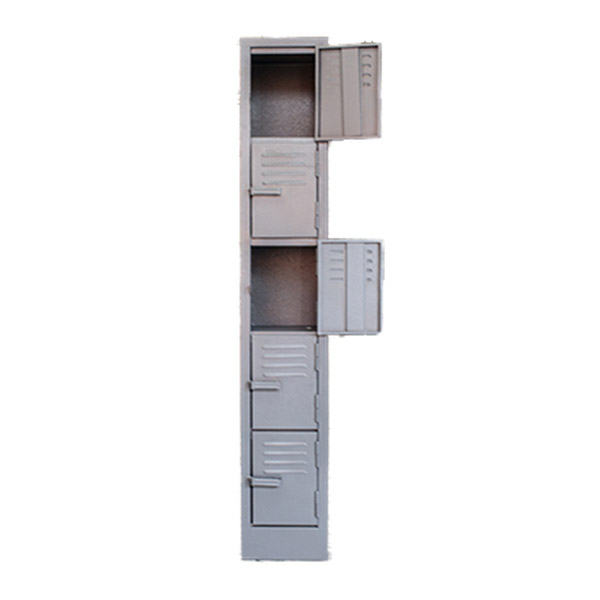 Triple H Display Shelving Lockers Steel Office Furniture South Africa_0012_five door locker grey