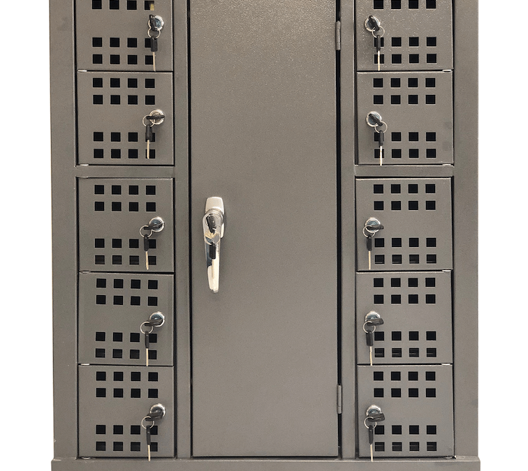 10 Compartment Charging Cell Phone Locker