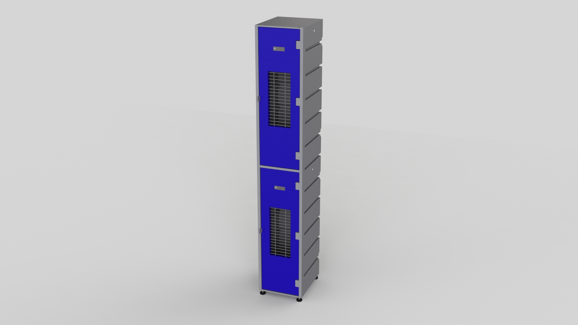 2 Tier Plastic Locker | Flat Top Mesh