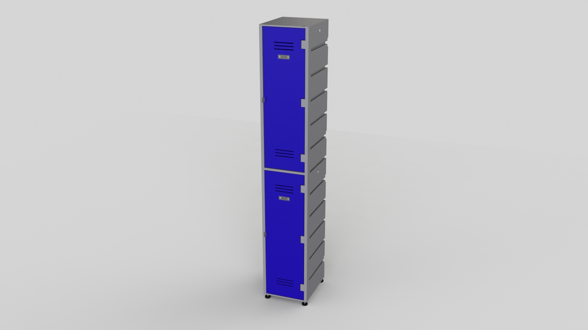 2 Tier Plastic Locker | Flat Top Solid