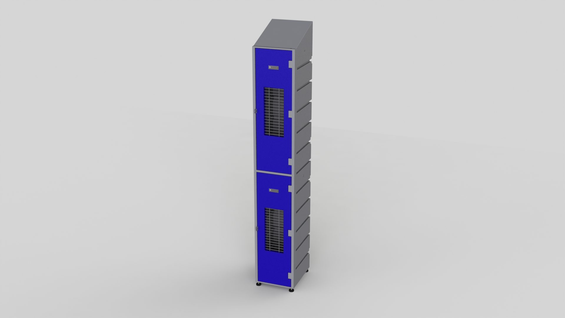 2 Tier Plastic Locker | Slant Top Mesh