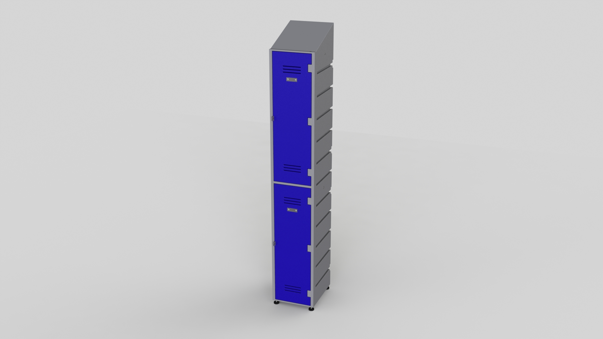 2 Tier Plastic Locker | Slant Top Solid