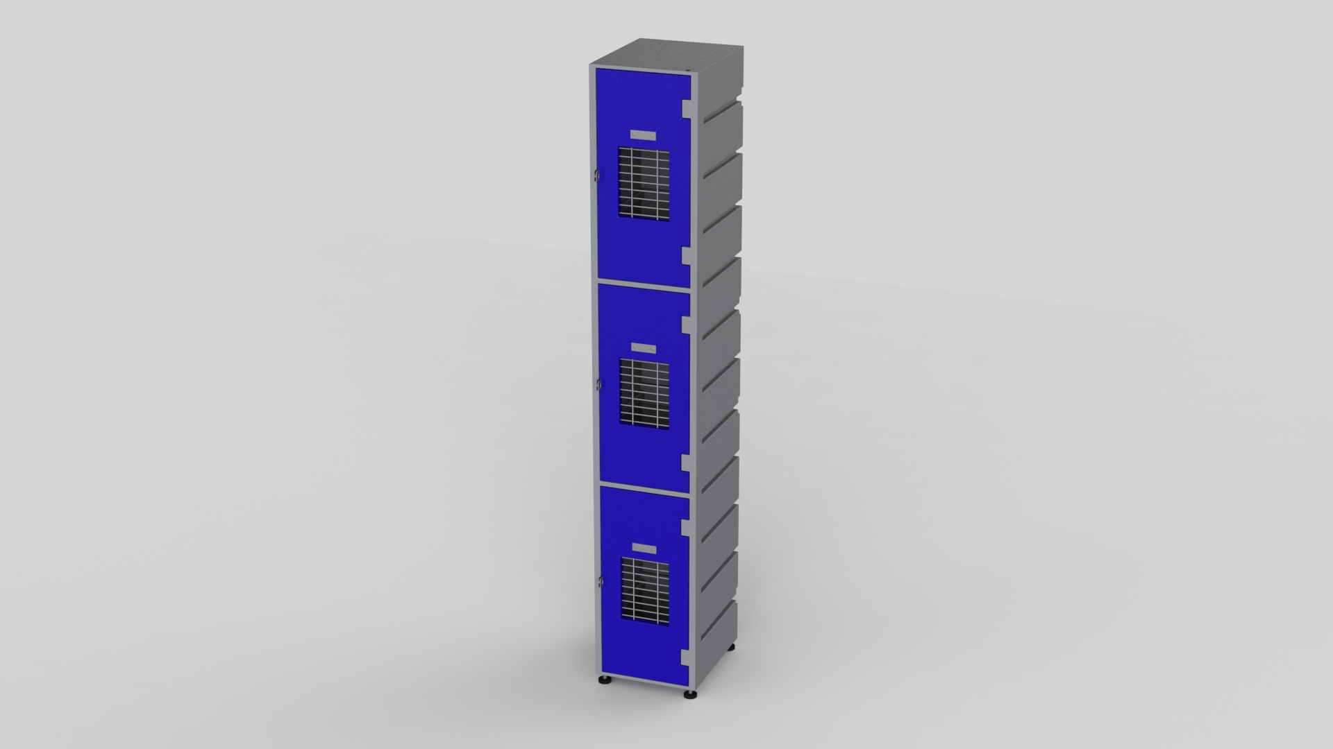 3 Tier Plastic Locker | Flat Top Mesh