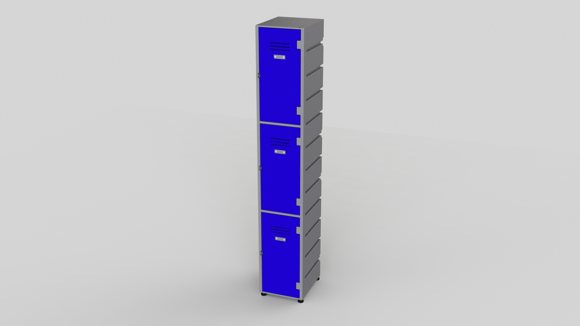 3 Tier Plastic Locker | Flat Top Solid